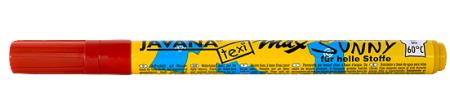 JAVANA TEXI MAX  FINE- Маркери 1-2 мм за светла основа - Червено