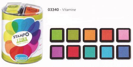 IZINK PIGMENT ALADINE - Комплект пигментни тампони 10 цв. VITAMINE