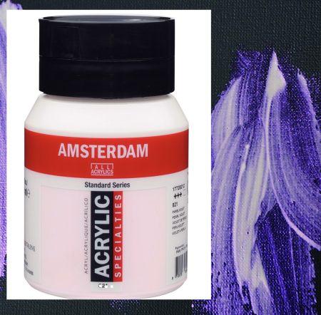 AMSTERDAM ACRYLIC - Акрилна боя за живопис 500 мл. - PEARL VIOLET 821