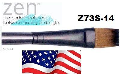 ZEN 73 Flat, USA - Профи `плоска` четка за различни техники №14