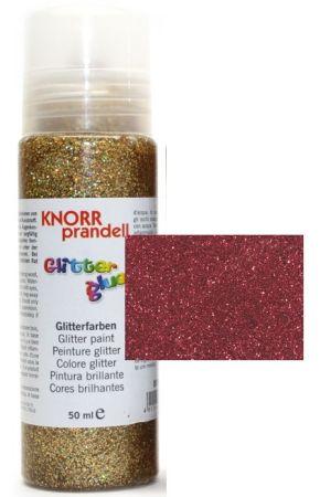 Glitter Glue с накрайник - Брокат контур за декорация 50ml. RED