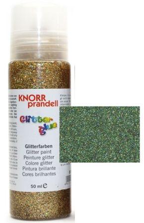 Glitter Glue с накрайник - Брокат контур за декорация 50ml.DARK GREEN
