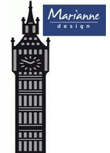 Marianne Design BIG BEN - Шаблон за рязане и ембос CR1221