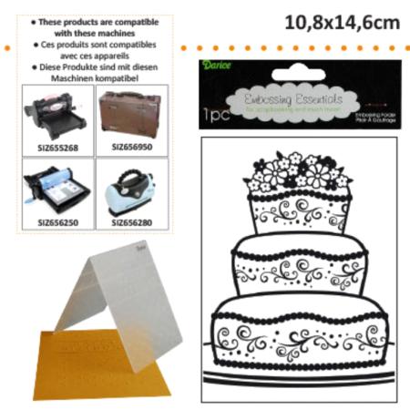 DARICE Emboss Folder - Папка за релеф 108 х 146 мм. Fancy Cake