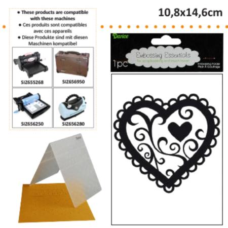 DARICE Emboss Folder  - Папка за релеф 108 х 146 мм. Valentine