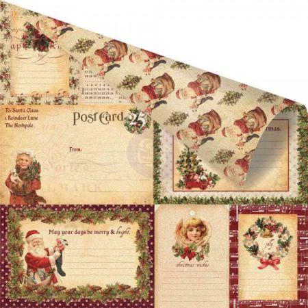 PRIMA GOLD ,USA 12 X 12  - Дизайнерски скрапбукинг картон 30,5 х 30,5 см.