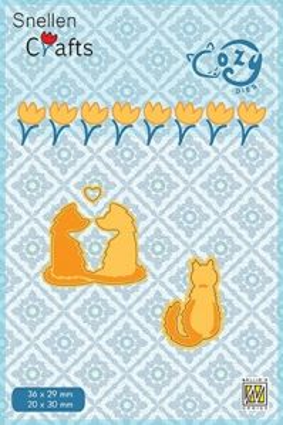 """CRAFT COZY DIE """"PUSSY CATS """"   - Фигурална щанца за рязане и релеф"""