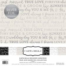"Carta Bella TRUE LOVE  SILVER FOIL 12"" x 12""- Дизайнерски блок 30.5 X 30.5"