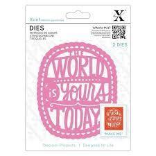 XCUT  DIES, THE WORLD IS YOURS- Комплект щанцa за рязане и релеф