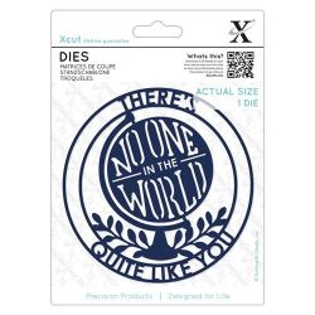 XCUT  DIES - Комплект щанцa за рязане и релеф NO ONE IN THE WORLD