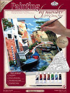PAINTING by NUMBERS ,USA - Рисуване по номера на платно А4 * PCS5