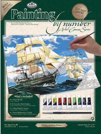 PAINTING by NUMBERS ,USA - Рисуване по номера на платно 350 x 280mm * PCL1