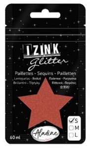 IZINK GLITTER S - Диамантен брокат за декорация 60ml BROWN