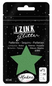 IZINK GLITTER S - Диамантен брокат за декорация 60ml DARK GREEN