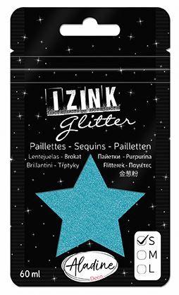 IZINK GLITTER S - Диамантен брокат за декорация 60ml SKY BLUE