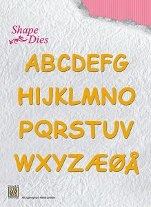ALPHABET Nellie Shape DIES SD037 - Орнаментни шаблони за рязане