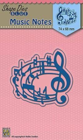 """SHAPE DIES """"Musical notes"""" 74x68mm  - Фигурална щанца за рязане и релеф SDB020"""