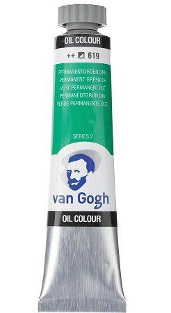 Van GOGH Oil ser2 - Маслена боя 20мл - Перм Зелена Тъмна  / 619