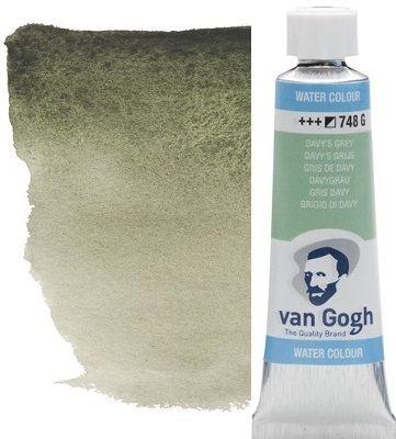 VAN GOGH WATERCOLOUR TUBE - Екстра фин акварел  # davys grey 748 G