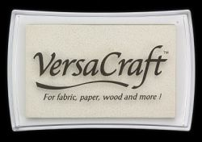VersaCraft, Tsukineko - Голям тампон с мастило за дърво ,текстил и др. повърхности - WHITE