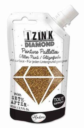 DIAMOND GLITTER PAINT - Универсална брокатна боя  80мл GOLDEN BRONZE