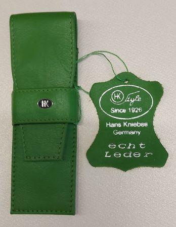 HK pen wallet 2 Germany - Кожен несесер за 2 пишещи средства MAY GREEN