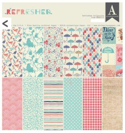"AUTHENTIQUE,USA - Дизайн блок ""Refreshed""  30,5x30.5"