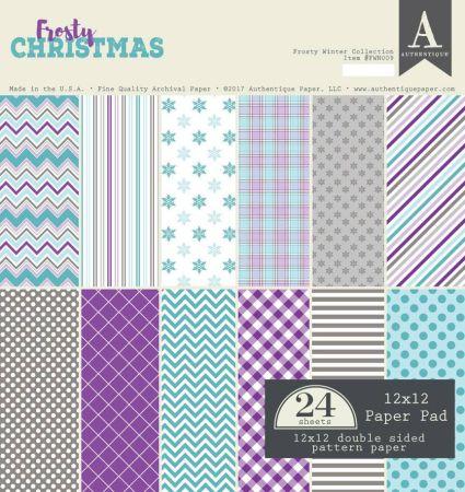 "AUTHENTIQUE,USA - Дизайн блок ""Frosty Winter""  30,5x30.5"