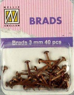 BRADS 3mm 40 бр FLORAL COPPER