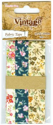 Crafts Too Vintage Selection - Fabric Tape 10/15/20mm 3m
