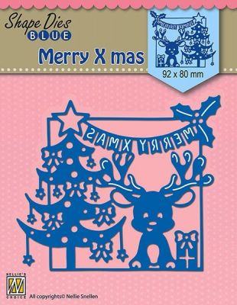 "SHAPE DIES ""Merry Christmas scene"" (92x80mm)  - Щанци за рязане и релеф SDB065"