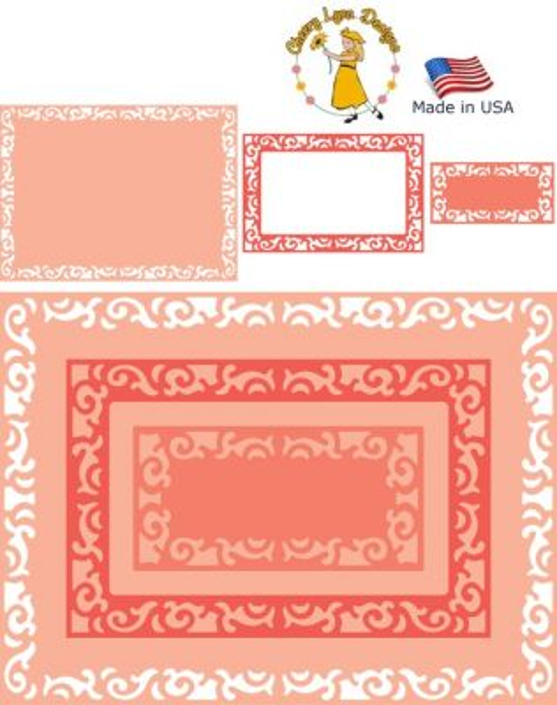 Cheery Lynn ,USA - К-кт шаблони за рязане и ембос / dl289