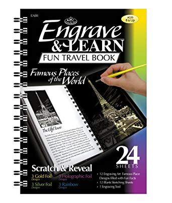 """Engrave & Learn - Книга за гравиране """"12 Известни места по света"""""""
