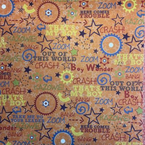 FANCY PANTS USA # TO THE MOON - Дизайнерски двустранен скрапбукинг картон 30,5 х 30,5 см.