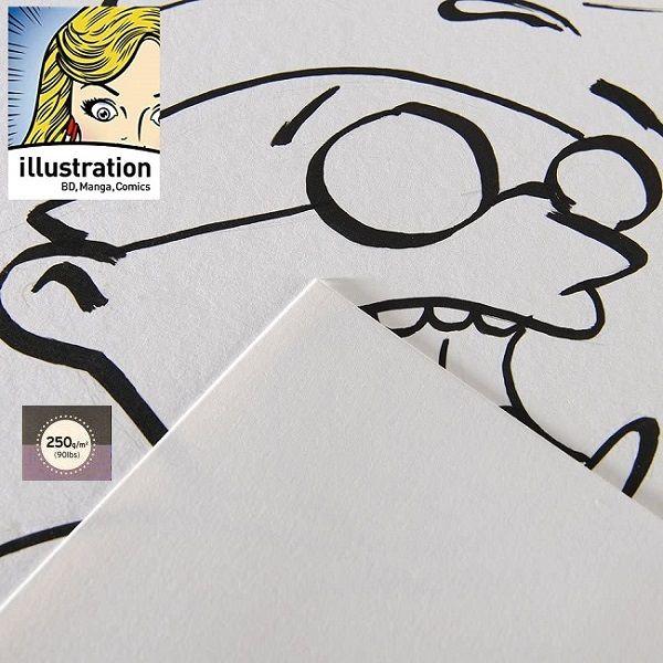 CANSON  ILLUSTRATION 250g -  МАНГА § КОМИКС РИСУВАТЕЛЕН КАРТОН 65х50  250g