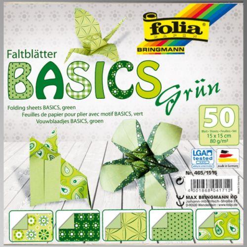 "FB BASICS GREEN BLOCK 6""x6"" - БЛОК дизайнерски хартии 50л./15х15см"