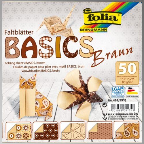 "FB BASICS BROWN BLOCK 6""x6"" - БЛОК дизайнерски хартии 50л./15х15см."