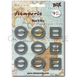 Bronze Metal Buckles, Stamperia - Метални елементи 9 бр.