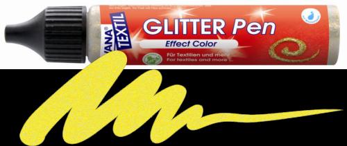 JAVANA GLITTER PEN - Контур с брокат за текстил и др., 29 мл. - Слънчево жълто