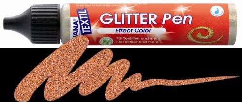 JAVANA GLITTER PEN - Контур с брокат за текстил и др., 29 мл. - Златен бронз