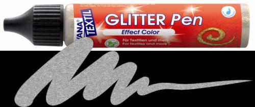 JAVANA GLITTER PEN - Контур с брокат за текстил и др., 29 мл. - Сребро