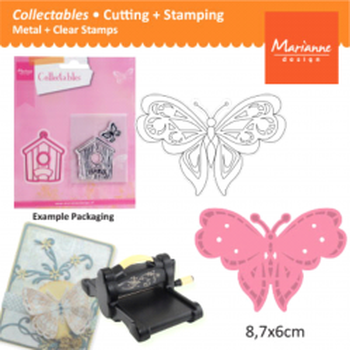 BUTTERFLY Marianne Design - Шаблон за рязане, ембос и печат