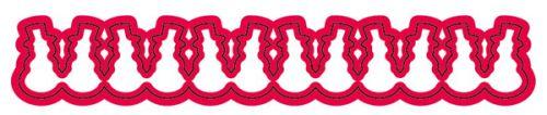 Crafter  New Cutting Stencil - Дизайн щанца за рязане 13.2 x 2.3cm