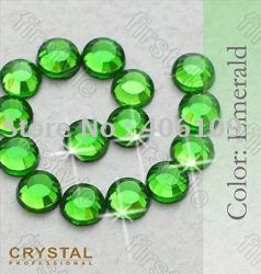 Hot-Fix Deco glass crystals - Кристални камъчета 3мм., 200 бр. - Emerald