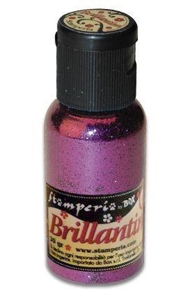 Brillantini,Stamperia - Диамантен брокат за декорация 20 гр. PURPLE