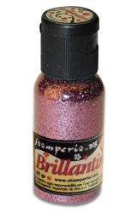 Brillantini,Stamperia -Диамантен брокат за декорация 20 гр. - Old Pink