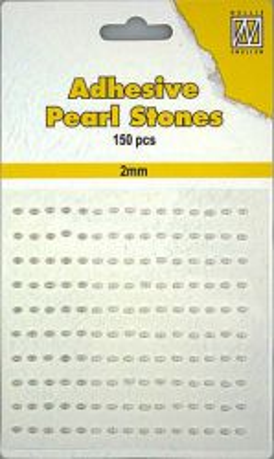 ADHESIVE Nellies`  Gemstone - Самозалепващи перлички 150 бр. 2mm