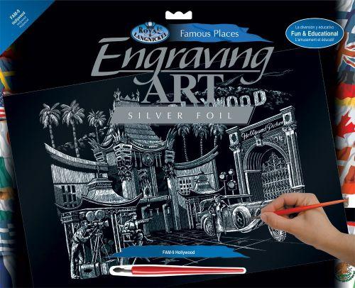 Engraving Art А3 - Картина за гравиране - сребърно фолио - Hollywood