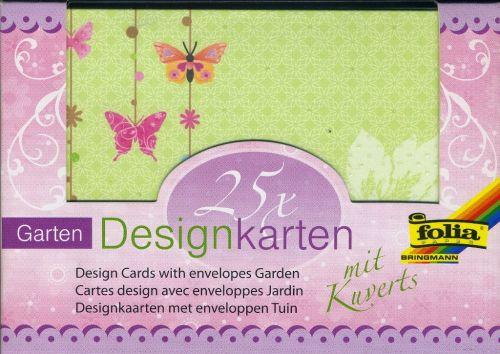 FB DESIGN cards & envelopes - 25 картички и пликове с брокатени елементи - GARDEN
