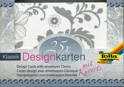 FB DESIGN cards & envelopes - 25 картички и пликове с брокатени елементи - CLASSIC